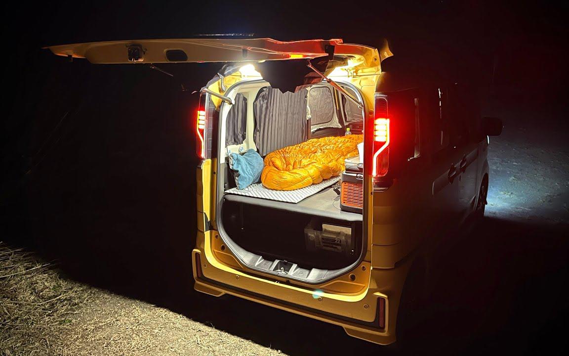 单人露营 轻型小货车 天气变暖 露营最合适的季节到了