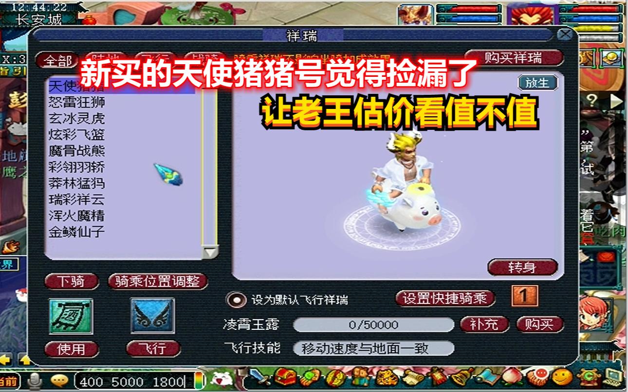 梦幻西游:玩家新买的天使猪猪号觉得捡漏了,让老王估价看值不值