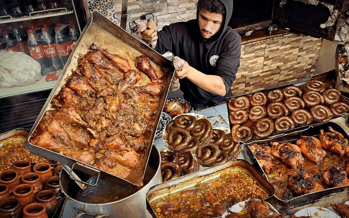 极端街头美食之旅在乌伊达 旅游摩洛哥
