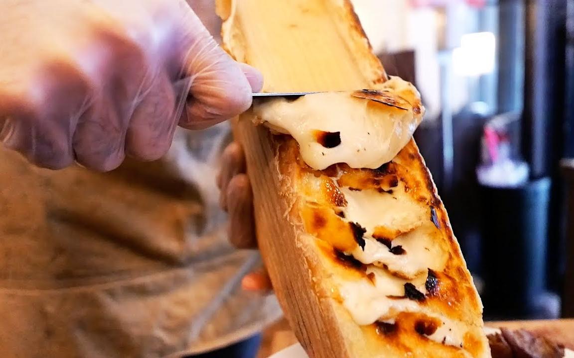纽约市美食 - 牛扒和汉堡包 拉克莱特奶酪 蒜蓉黄油 免翁牛柳 美国