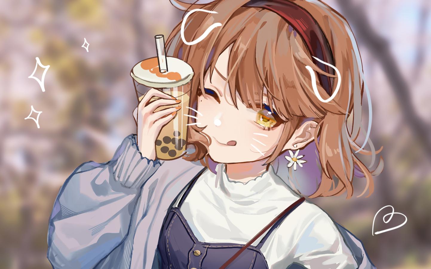 【绘画过程】你也要嚯一口吗?/唐茶