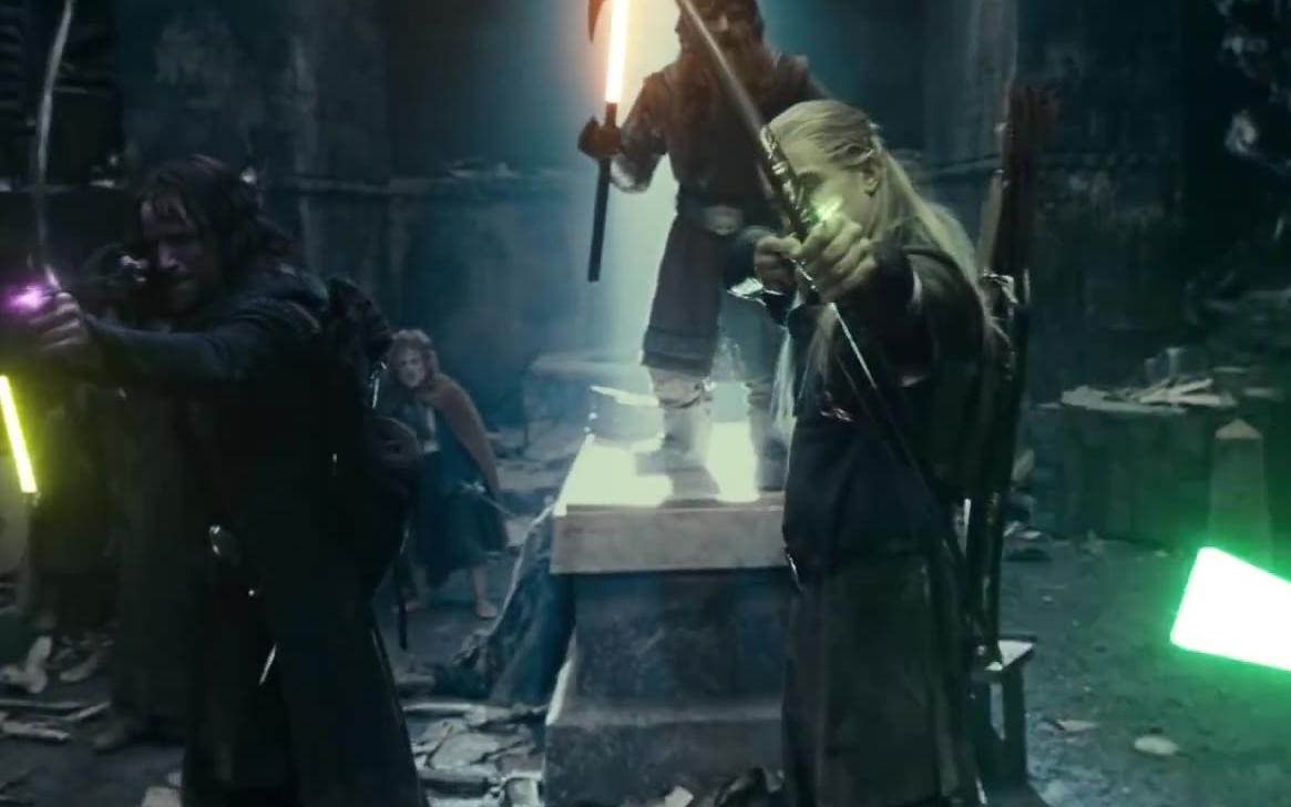 当《指环王》的人们用起了光剑……竟毫无违和感
