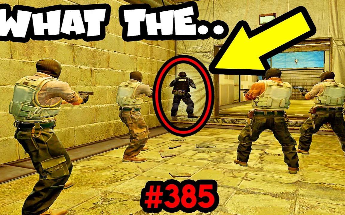 CS:GO中的奇特镜头385-智商不在线的忍者