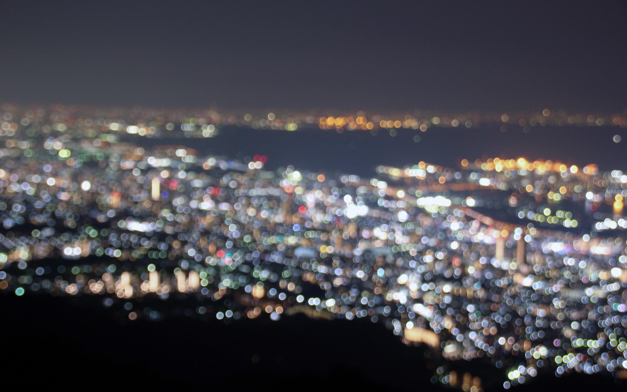 【延时摄影】凉宫春日圣地巡礼。神户摩耶山(百万夜景)