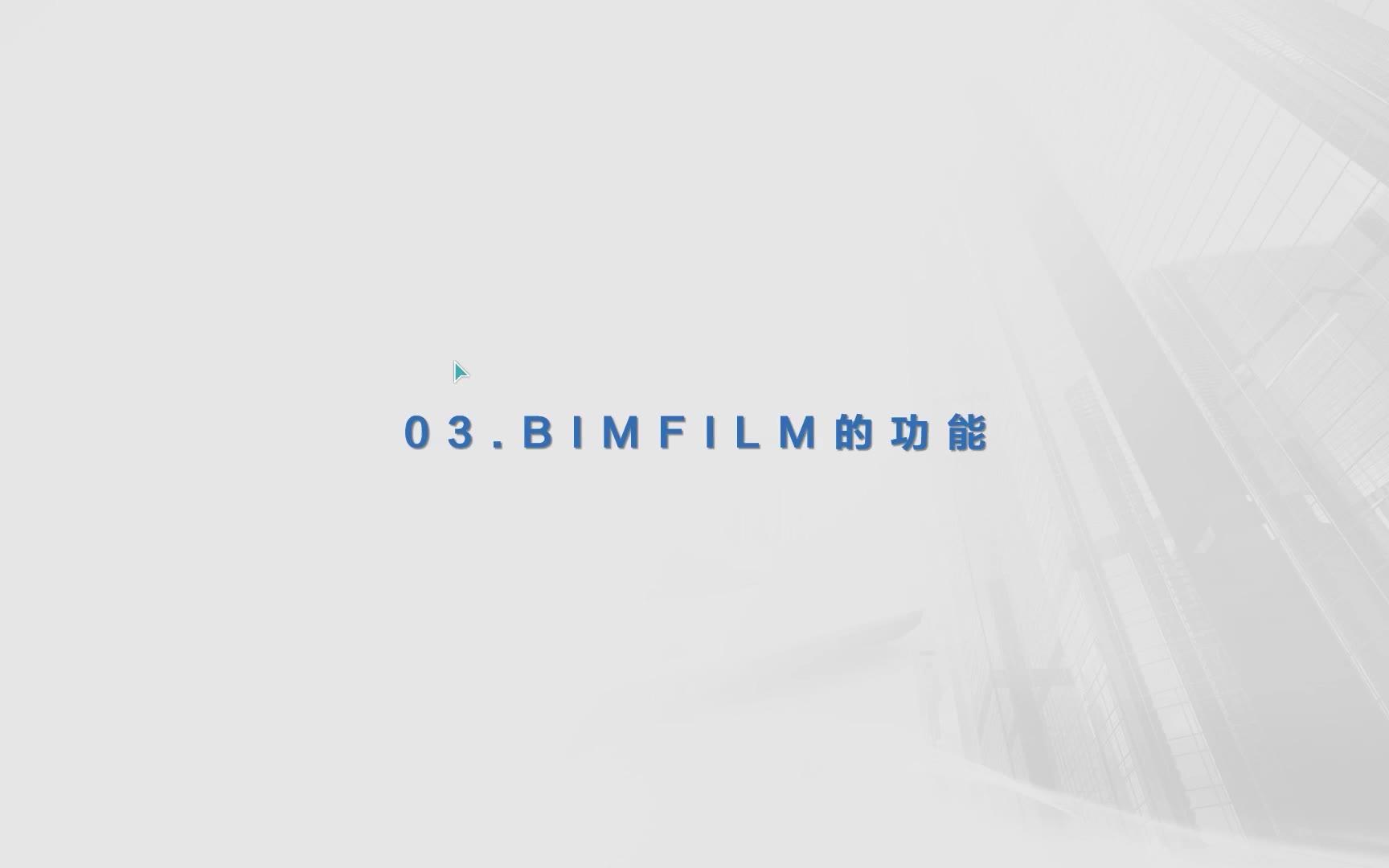 BIMFILM的功能