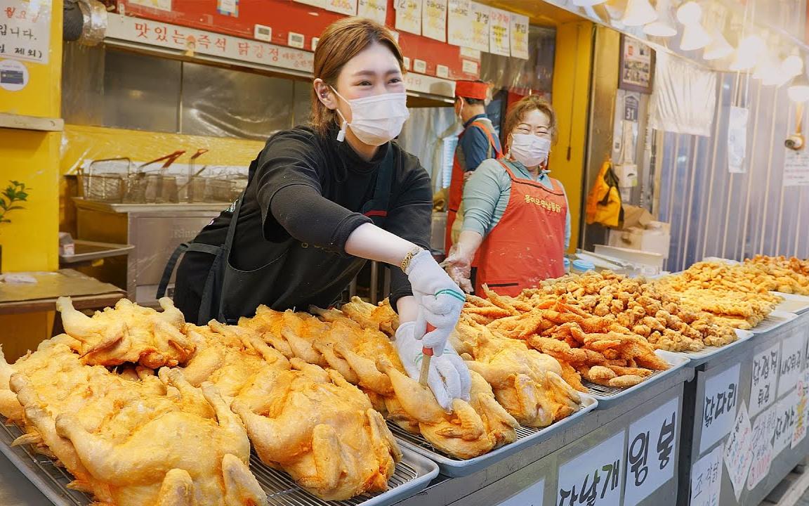 酥脆的炸鸡-韩国街头小吃