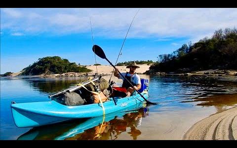 【欧美露营】野外皮艇探险,捡贻贝,钓鱼