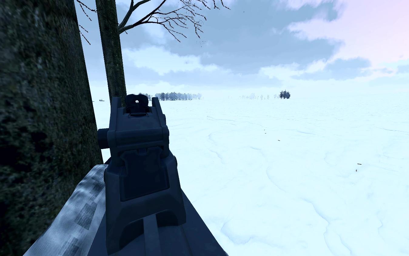 《武装突袭3》雪地狙击