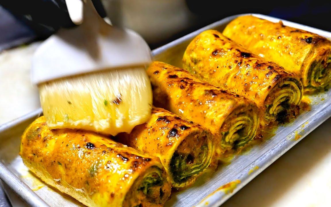 纽约市美食 - 印度炸鸡、奶酪卷、羊肉汉堡