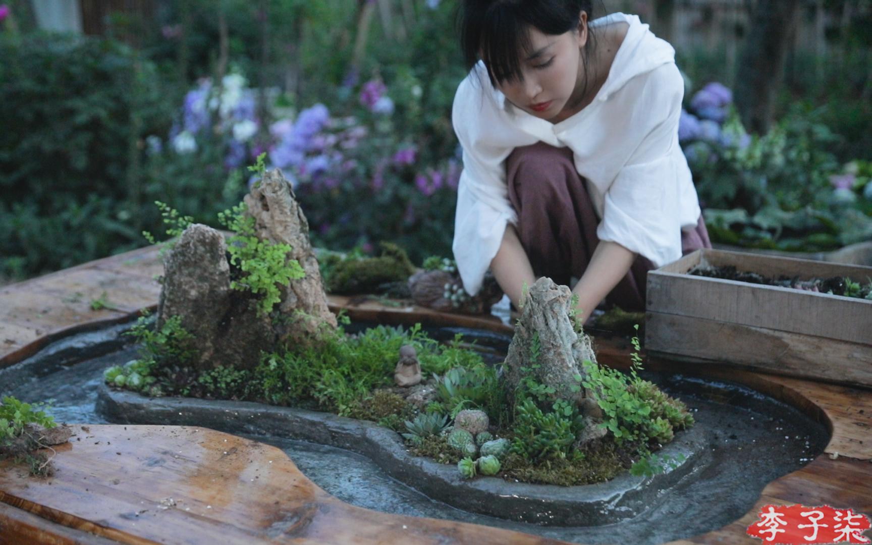 小时候睡的旧木床,蜕变成古色古香的流觞曲水桌