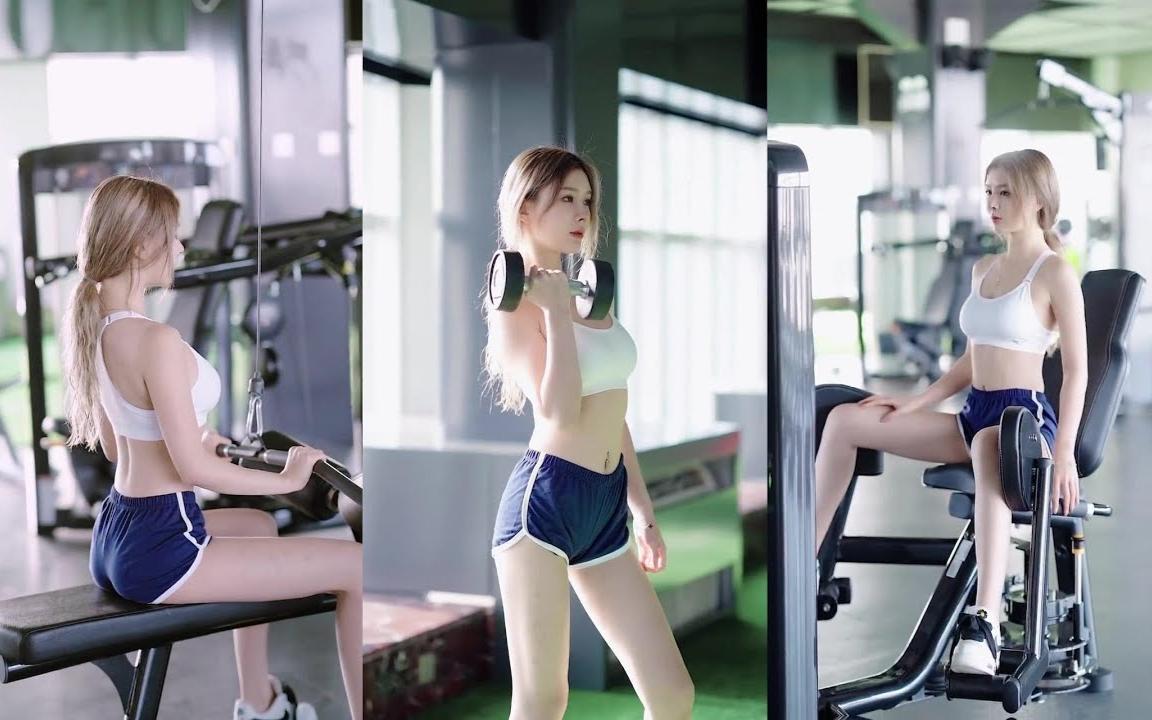 有这样的教练你们几点来健身?