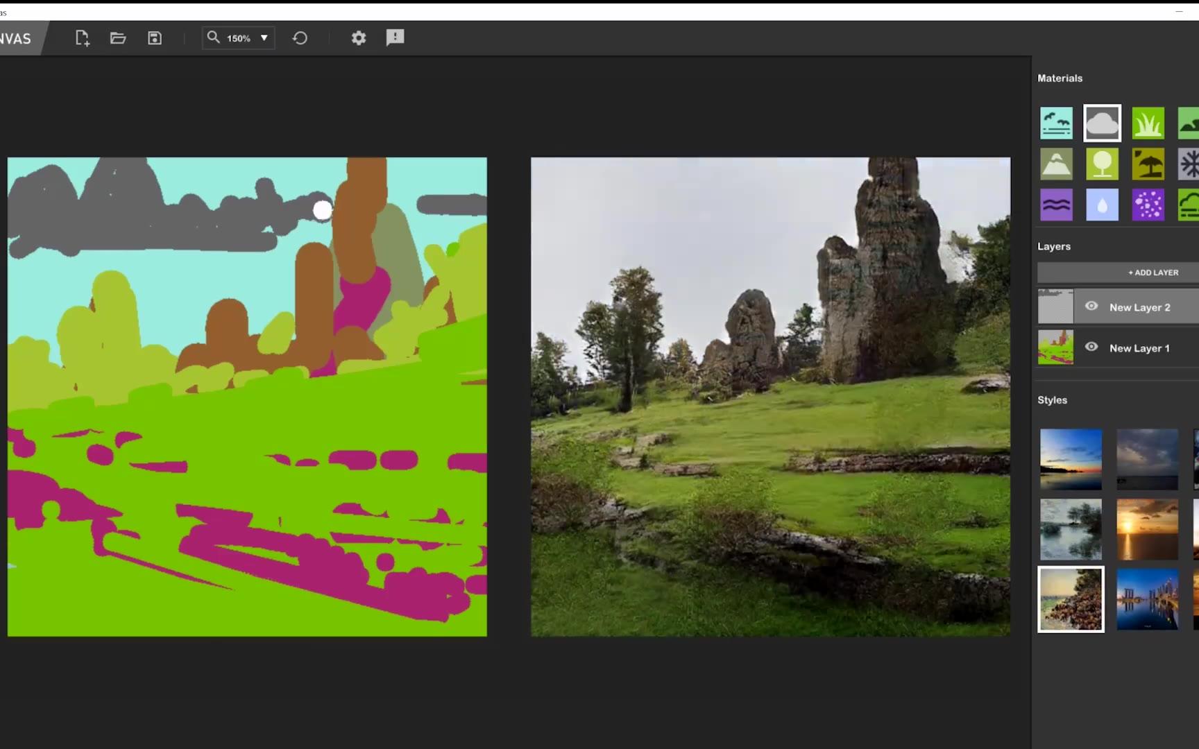 【加亿点细节】NVIDIA最近推出了绘画应用 NVIDIA Canvas 的免费测试版