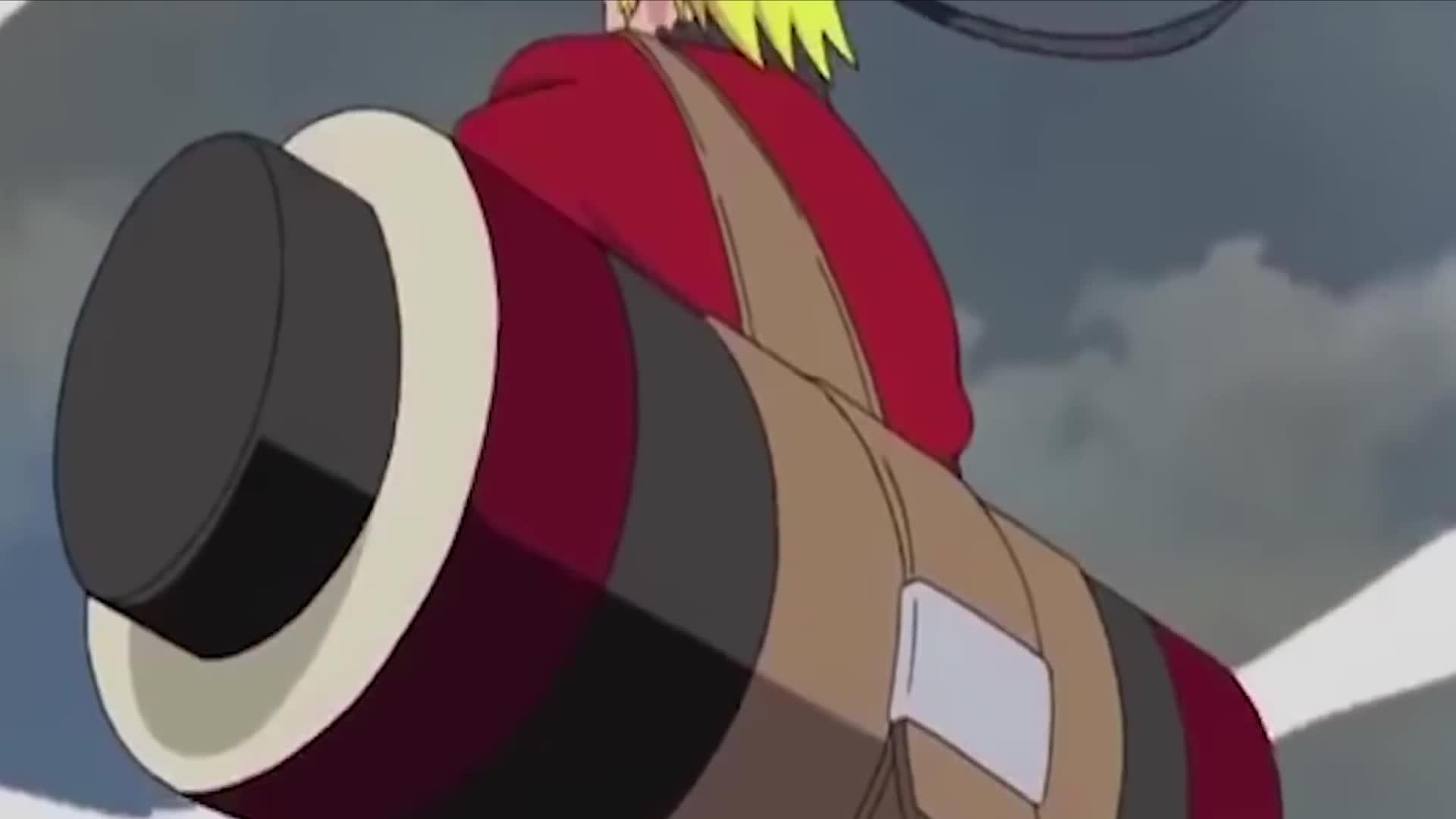 鸣人vs潘恩 鸣人修炼仙术后帅气登场! ! !