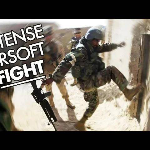 intense airsoft fight