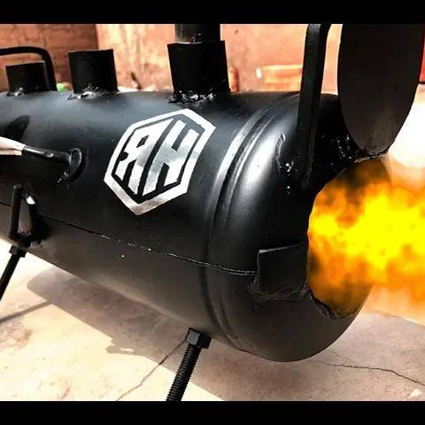 making a simple forge using empty fire extinguisher cylinder