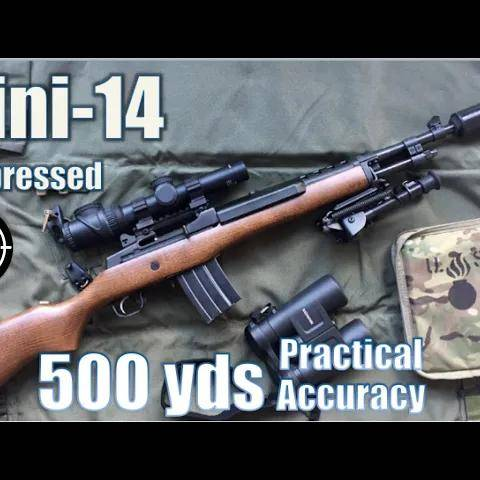 mini 14 suppressed to 500yds: practical accuracy (pubg mode,with trijicon 1-6x accupoint mildot