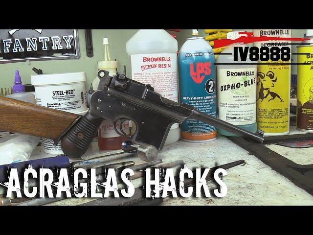 brownells acraglas hacks & broomhandle repair