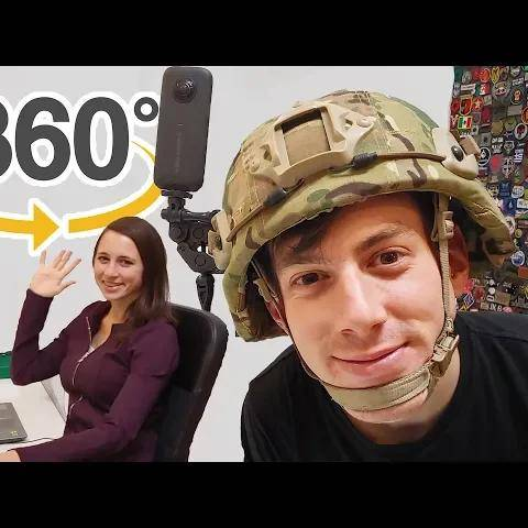 interactive airsoft gameplay + office tour   360   vr