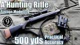 a hunting rifle  to 500yds: practical accuracy