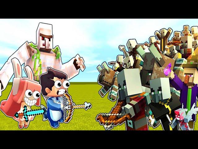 【木鱼】迷你世界: 趣味小游戏,mc版村民保卫战!