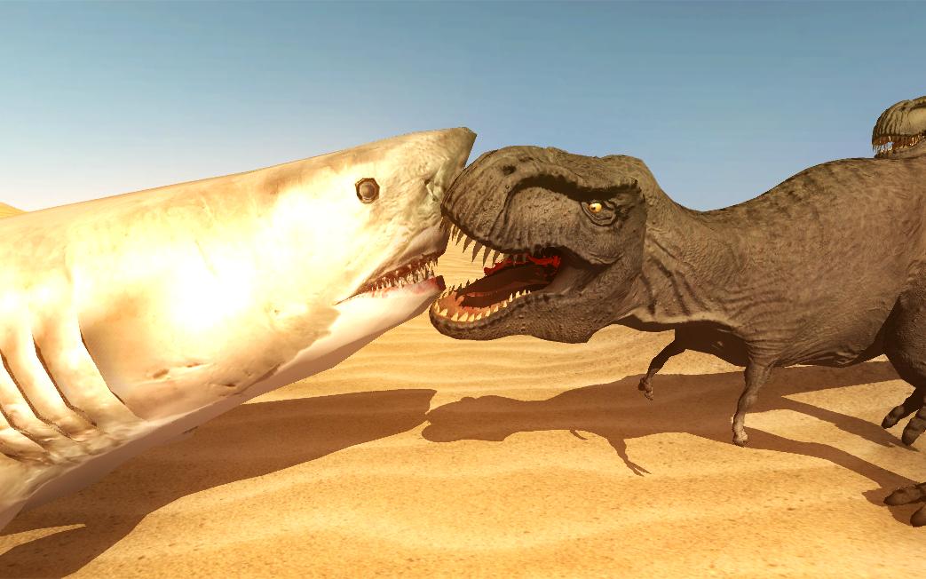 史上画面最接近现实的游戏 上演侏罗纪恐龙大战!