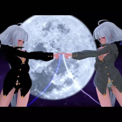 [mmd]haku fly to night,tonight 4k(2160p60fps
