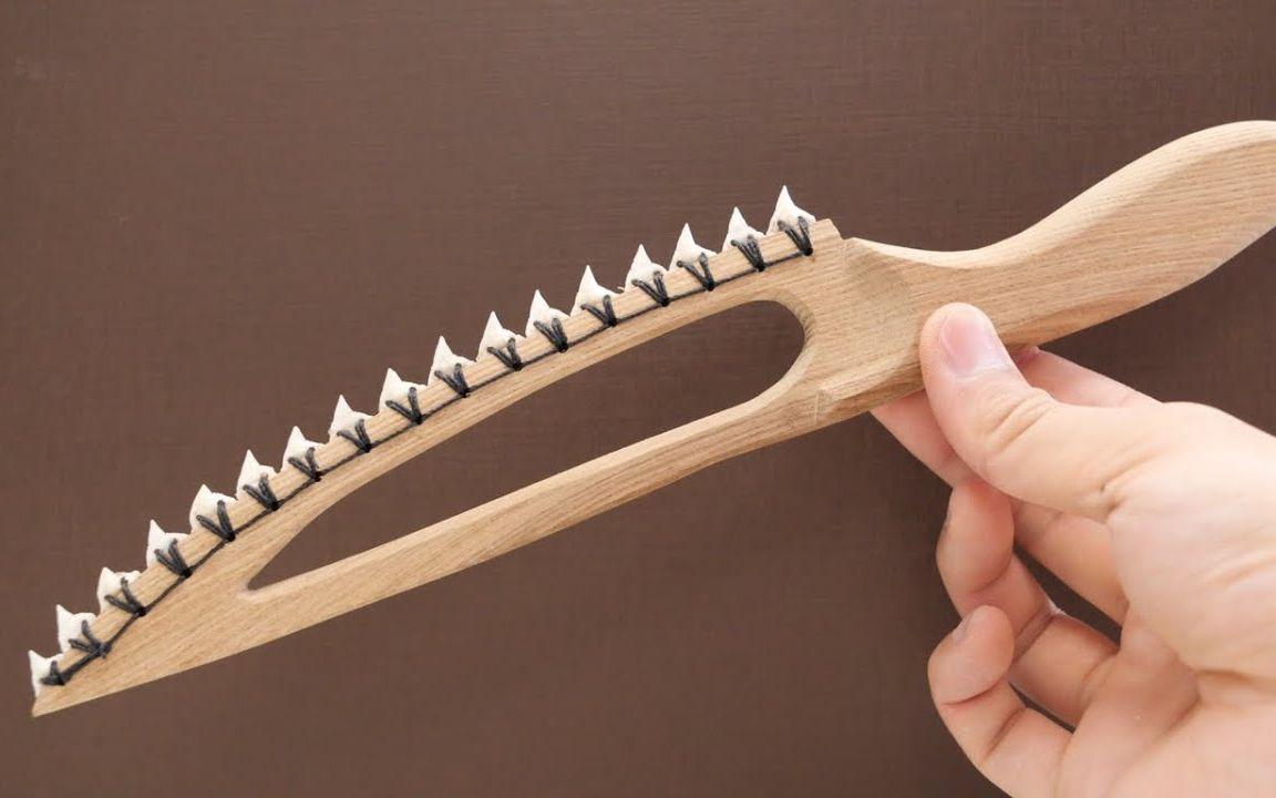 【1080P】用鲨鱼的牙齿做一把厨刀? || 万物皆可做刀