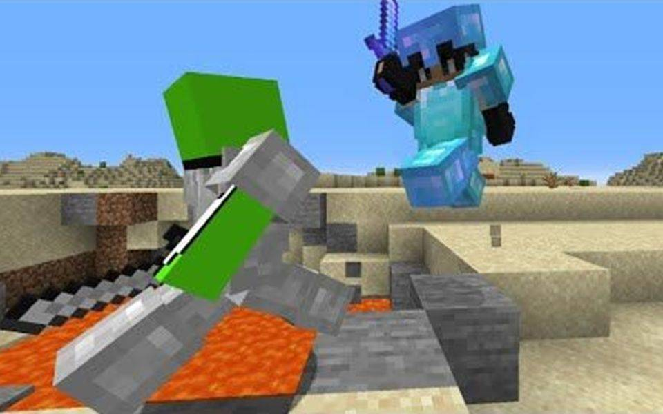 【Dream猎人游戏】我的世界 速通者 VS 坦克 [第八部] 熟肉中字 Minecraft Speedrunner VS Full Diamond