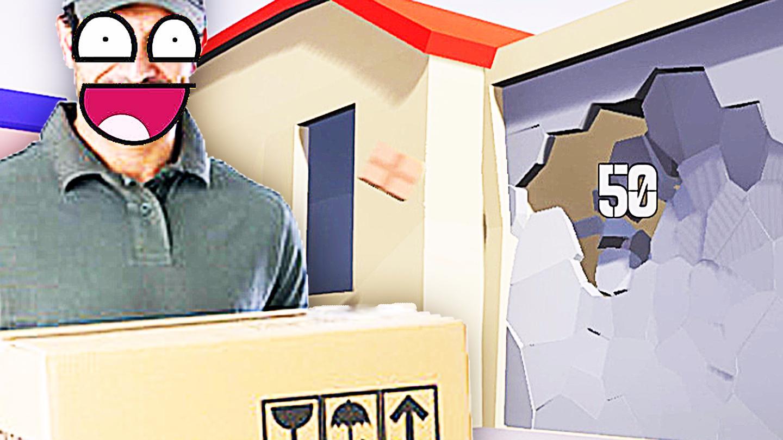 屌德斯解说 模拟快递员 史上最强派件员直接敲穿你家门!